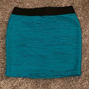 Maurices — aqua textured skirt with liner